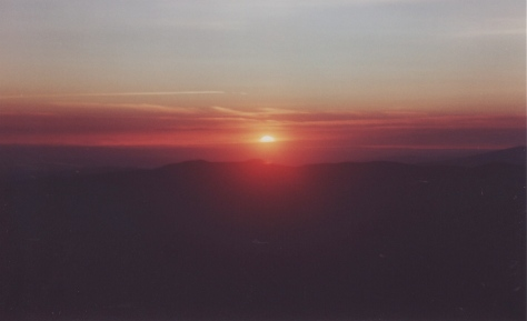 Sunset from Horseshoe Ridge